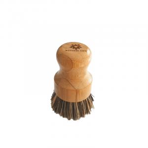 Natural Life Bamboo Pot Scrubbing Brush with Palm Fibre Bristles