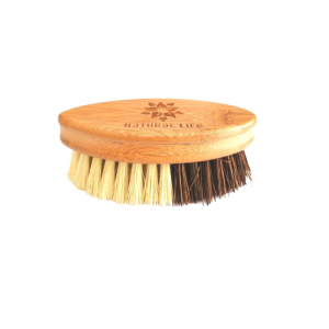 Bamboo Vegetable Brush with Natural Sisal and Palm Fibre Bristles