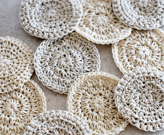 Natural Life Hemp and Cotton Rounds Scrubbies