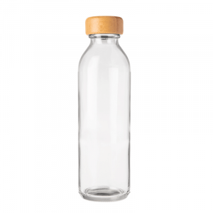 Consol 500ml sleek water bottle with bamboo lid - plain